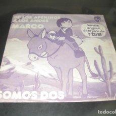 Discos de vinilo: DE LOS APENINOS A LOS ANDES - MARCO SINGLE 1976. Lote 139819526