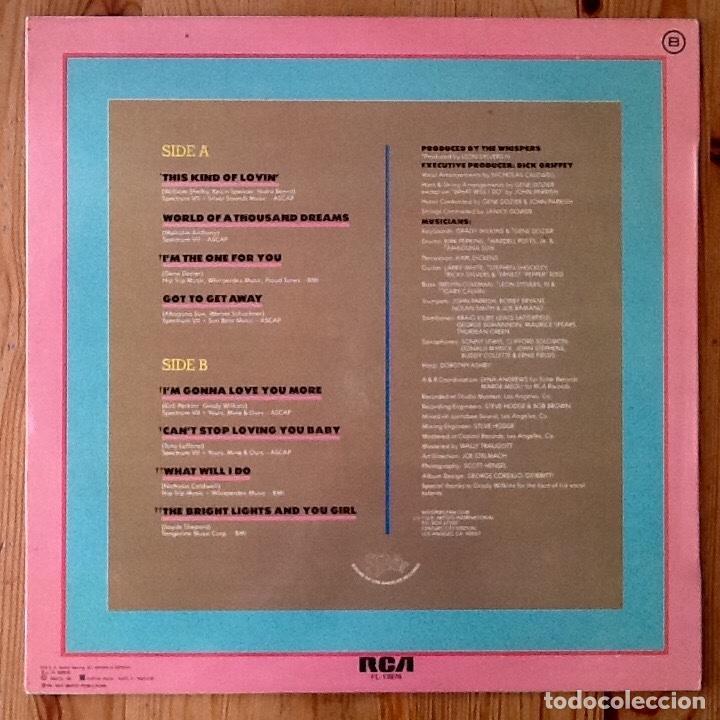 Discos de vinilo: THE WHISPERS : THIS KIND OF LOVIN' [ESP 1981] LP - Foto 2 - 139820718