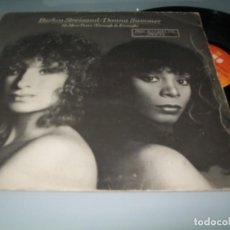Discos de vinilo: BARBRA STREISAND / DONNA SUMMER - NO MORE TEARS.. MAXISINGLE SPAIN EXTENDED VERSION - 1979 . Lote 139826534