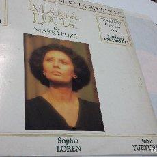 Discos de vinilo: BANDA SONORA DE LA PELICULA MAMA LUCIA DE MARIO PUZO (CARUSO CANTADO POR LUCIANO PAVAROTTI. Lote 139828350