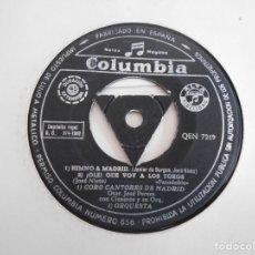 Discos de vinilo: CISNEROS Y SU ORQUESTA-EP HIMNO A MADRID +3. Lote 139864630