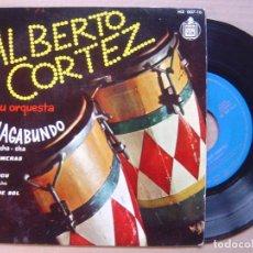 Discos de vinilo: ALBERTO CORTEZ Y SU ORQUESTA - EL VAGABUNDO - EP 1960 - HISPAVOX. Lote 139883622