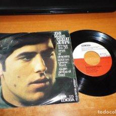 Discos de vinilo: JOAN MANUEL SERRAT ARA QUE TINC VINT ANYS EP VINILO DEL AÑO 1966 EDIGSA CONTIENE 4 TEMAS. Lote 139891798