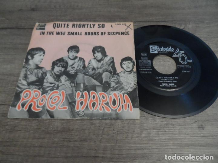 PROCOL HARUM - QUITE RIGHTLY SO / IN THE WEE SMALL HOURS OF SIXPENCE (Música - Discos - Singles Vinilo - Pop - Rock Internacional de los 50 y 60)
