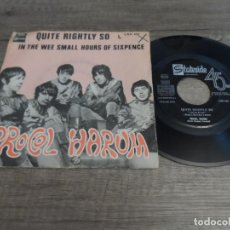 Discos de vinilo: PROCOL HARUM - QUITE RIGHTLY SO / IN THE WEE SMALL HOURS OF SIXPENCE. Lote 139891802