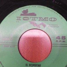 Discos de vinilo: LUCHO BARRIOS. EL DESPERTAR - CUANDO VIVAS CONMIGO. SINGLE EDITADO EN NICARAGUA. ISTMO. Lote 139898154