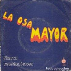 Discos de vinilo: LA OSA MAYOR - FIESTA - SINGLE DE VINILO. Lote 139898910