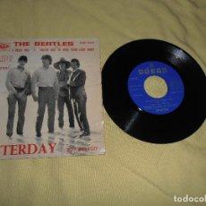 Discos de vinilo: THE BEATLES - HELP - YESTERDAY - SINGLE ODEON 1965. Lote 139899126