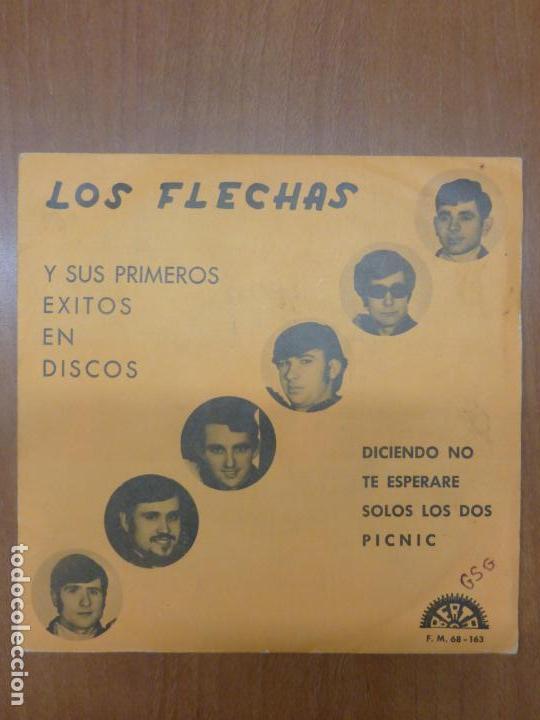 LOS FLECHAS - DICIENDO NO, TE ESPERARÉ / SOLOS LOS DOS, PICNIC - BERTA, 1970 - (Música - Discos - Singles Vinilo - Grupos Españoles 50 y 60)