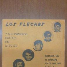 Discos de vinilo: LOS FLECHAS - DICIENDO NO, TE ESPERARE / SOLOS LOS DOS, PICNIC - BERTA, 1970 -. Lote 139899910