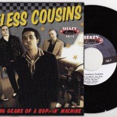 Discos de vinilo: THE LOVELESS COUSINS THE RUNNING GEARS OF A BOPPIN' MACHINE EP ROCKABILLY SPAIN GALICIA LA CORUÑA. Lote 139905634