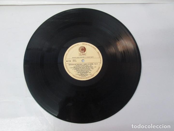 Discos de vinilo: ANTOLOGIA DE CANCIONES Y DANZAS DE ESPAÑA. LP VINILO. CLAVE HISPAVOX 1968. VER FOTOGRAFIAS - Foto 7 - 139934978