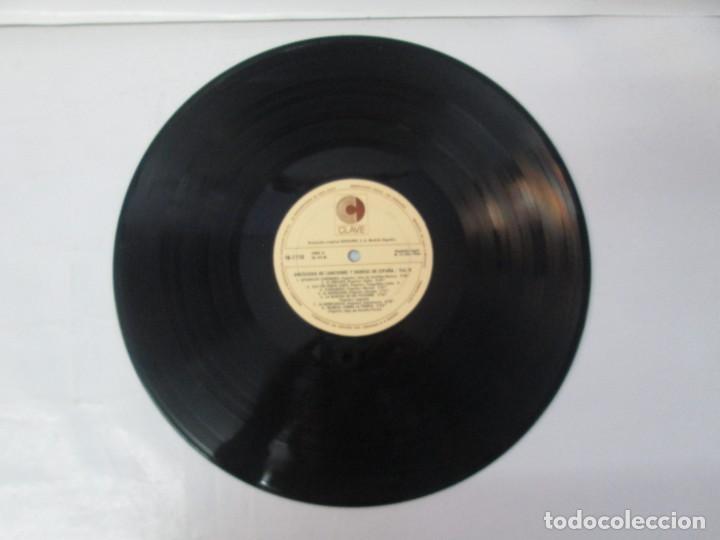 Discos de vinilo: ANTOLOGIA DE CANCIONES Y DANZAS DE ESPAÑA. LP VINILO. CLAVE HISPAVOX 1968. VER FOTOGRAFIAS - Foto 10 - 139934978