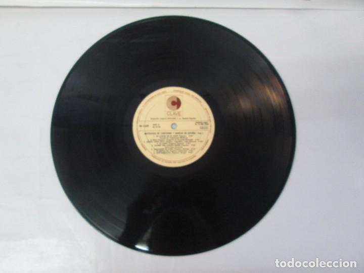 Discos de vinilo: ANTOLOGIA DE CANCIONES Y DANZAS DE ESPAÑA. LP VINILO. CLAVE HISPAVOX 1968. VER FOTOGRAFIAS - Foto 14 - 139934978