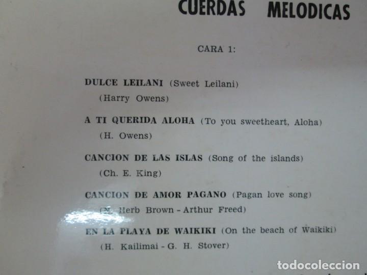 Discos de vinilo: CUERDAS MELODICAS INTERPRETAN MUSICA DE HAWAII. LP VINILO. VIK 1963. VER FOTOGRAFIAS ADJUNTAS - Foto 3 - 139937950
