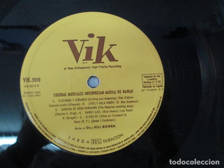 Discos de vinilo: CUERDAS MELODICAS INTERPRETAN MUSICA DE HAWAII. LP VINILO. VIK 1963. VER FOTOGRAFIAS ADJUNTAS - Foto 6 - 139937950