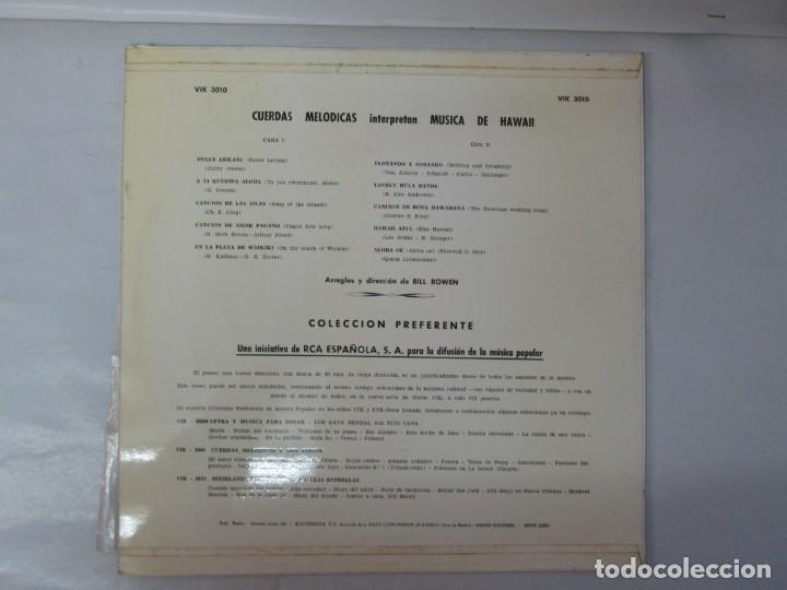 Discos de vinilo: CUERDAS MELODICAS INTERPRETAN MUSICA DE HAWAII. LP VINILO. VIK 1963. VER FOTOGRAFIAS ADJUNTAS - Foto 9 - 139937950