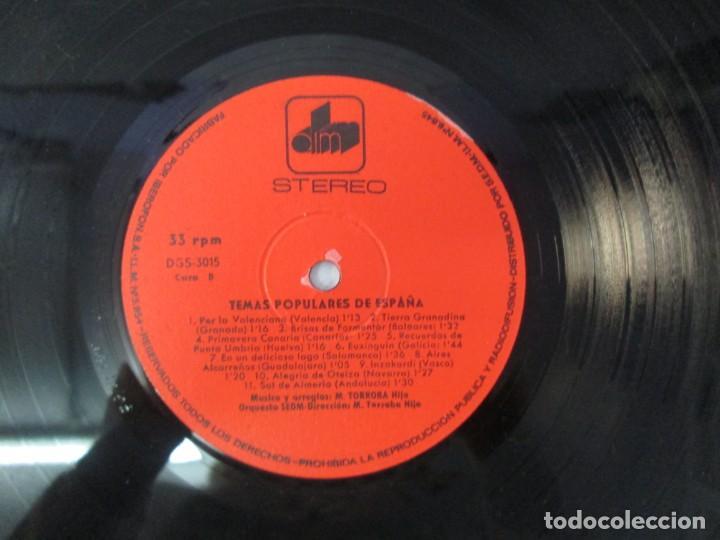 Discos de vinilo: TEMAS DE ESPAÑA. LP VINILO. DIM ESTEREO S.E.D.M. 1969. VER FOTOGRAFIAS ADJUNTAS - Foto 6 - 139940266