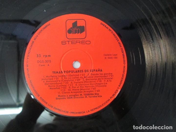Discos de vinilo: TEMAS DE ESPAÑA. LP VINILO. DIM ESTEREO S.E.D.M. 1969. VER FOTOGRAFIAS ADJUNTAS - Foto 8 - 139940266