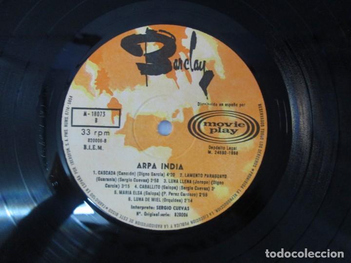 Discos de vinilo: ARPA INDIA. SERGIO CUEVAS. LP VINILO. MOVIEPLAY 1968. VER FOTOGRAFIAS ADJUNTAS - Foto 8 - 139944982
