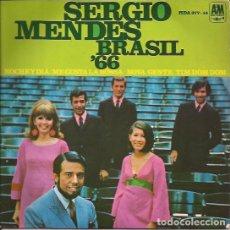 Discos de vinilo: EP-SERGIO MENDES BRASIL 66 NOCHE Y DIA HISPAVOX 37714. Lote 139948566