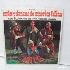 Discos de vinilo: CANTOS Y DANZAS DE AMERICA LATINA. LOS GUARANIS DE FRANCISCO MARIN. LP VINILO. MOVIEPLAY 1969.. Lote 139949114