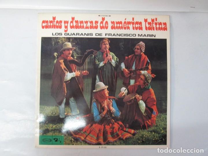 Discos de vinilo: CANTOS Y DANZAS DE AMERICA LATINA. LOS GUARANIS DE FRANCISCO MARIN. LP VINILO. MOVIEPLAY 1969. - Foto 2 - 139949114