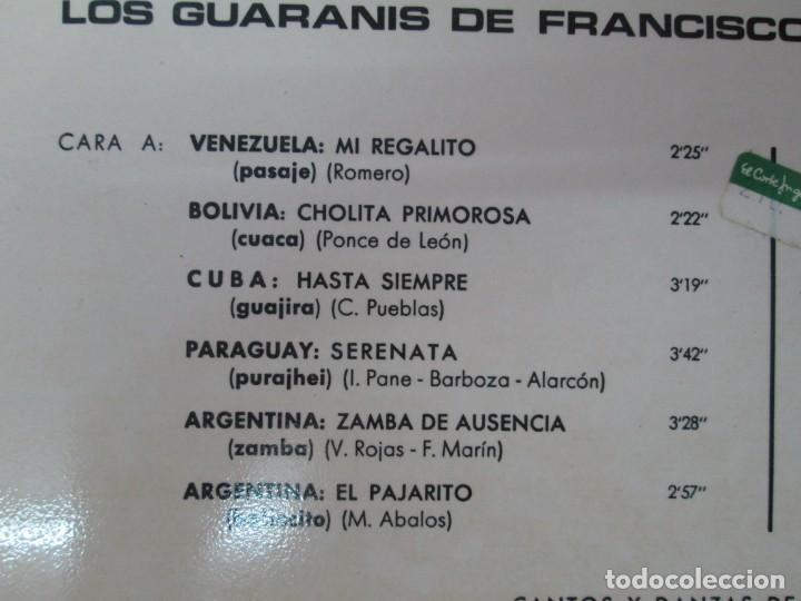 Discos de vinilo: CANTOS Y DANZAS DE AMERICA LATINA. LOS GUARANIS DE FRANCISCO MARIN. LP VINILO. MOVIEPLAY 1969. - Foto 3 - 139949114