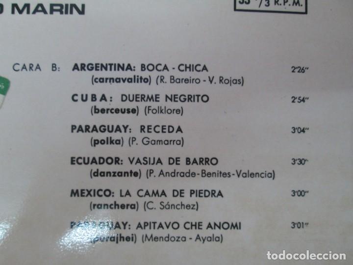 Discos de vinilo: CANTOS Y DANZAS DE AMERICA LATINA. LOS GUARANIS DE FRANCISCO MARIN. LP VINILO. MOVIEPLAY 1969. - Foto 4 - 139949114