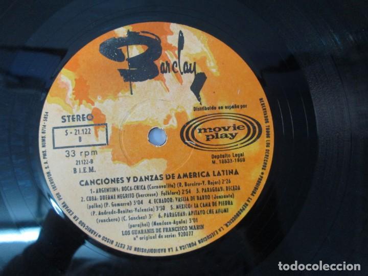 Discos de vinilo: CANTOS Y DANZAS DE AMERICA LATINA. LOS GUARANIS DE FRANCISCO MARIN. LP VINILO. MOVIEPLAY 1969. - Foto 6 - 139949114