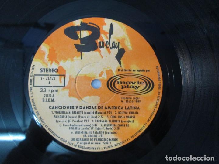 Discos de vinilo: CANTOS Y DANZAS DE AMERICA LATINA. LOS GUARANIS DE FRANCISCO MARIN. LP VINILO. MOVIEPLAY 1969. - Foto 8 - 139949114