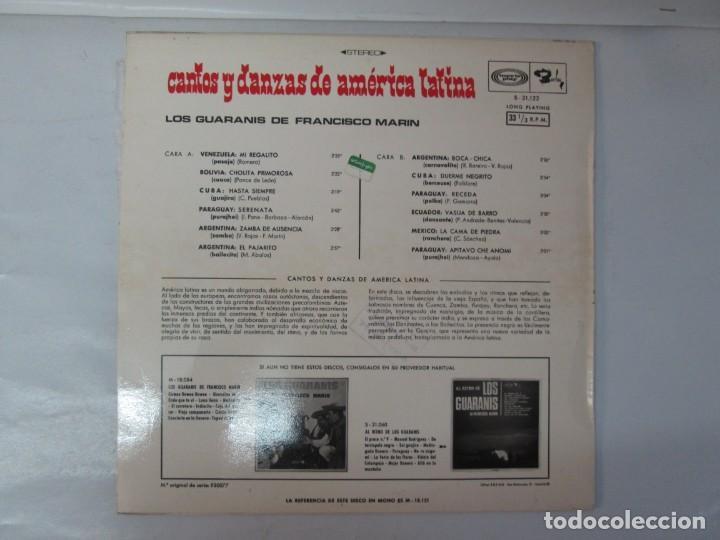 Discos de vinilo: CANTOS Y DANZAS DE AMERICA LATINA. LOS GUARANIS DE FRANCISCO MARIN. LP VINILO. MOVIEPLAY 1969. - Foto 9 - 139949114
