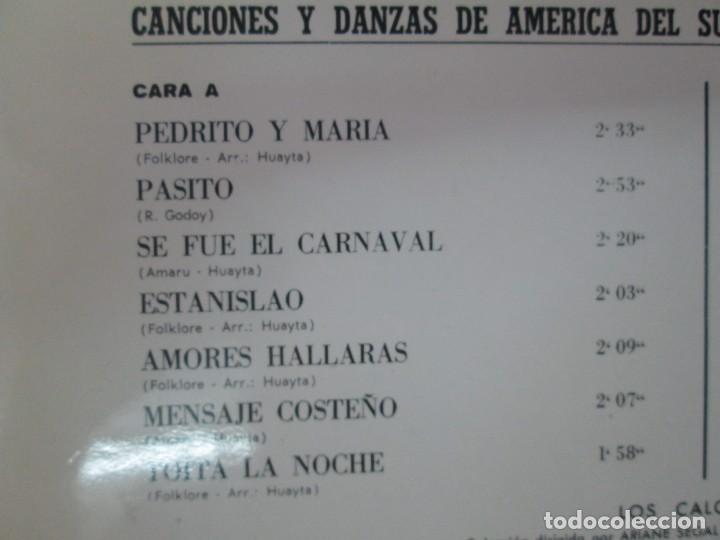 Discos de vinilo: LA CORDILLERA DE LOS ANDES. DANZAS Y CANCIONES DE AMERICA DEL SUR CON LOS CALCHAKIS. LP VINILO 1968 - Foto 3 - 139951734