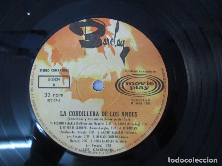 Discos de vinilo: LA CORDILLERA DE LOS ANDES. DANZAS Y CANCIONES DE AMERICA DEL SUR CON LOS CALCHAKIS. LP VINILO 1968 - Foto 6 - 139951734