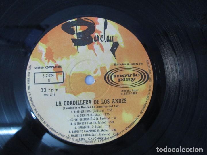 Discos de vinilo: LA CORDILLERA DE LOS ANDES. DANZAS Y CANCIONES DE AMERICA DEL SUR CON LOS CALCHAKIS. LP VINILO 1968 - Foto 8 - 139951734