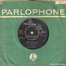 Discos de vinilo: A HARD DAY'S NIGHT / THINGS WE SAID TODAY. - THE BEATLES. SINGLE 7 45 R.P.M. POP-ROCK.. Lote 139956446