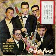 Discos de vinilo: RELÁMPAGOS / ASTER NOVA/ DIAMONDS / ESTEPAS. - EP 7 5 R.P.M. LOS RELÁMPAGOS. POP-ROCK ESPAÑOL.. Lote 139956777