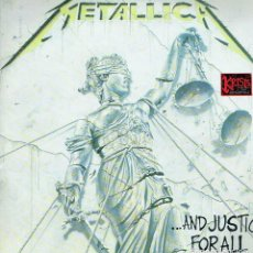 Discos de vinilo: ... AND JUSTICE FOR ALL. - LP DOBLE. 33 R.P.M. METALLICA. HEAVY METAL.. Lote 139957049