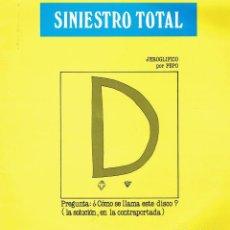 Discos de vinilo: GRANDES ÉXITOS. - LP DE VINILO 12 33 R.P.M. SINIESTRO TOTAL. PUNK ESPAÑOL.. Lote 139957522