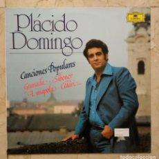 Discos de vinilo: LP PLÁCIDO DOMINGO-CANCIONES POPULARES-GRANADA -1977- DEUTSCHE GRAMMOPHON.. Lote 139970058