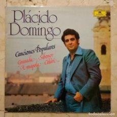 Discos de vinilo: LP PLÁCIDO DOMINGO - CANCIONES POPULARES - GRANADA - 1977 DEUTSCHE GRAMMOPHON. Lote 139970682