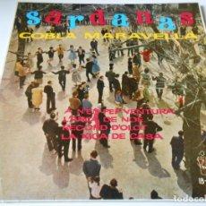 Discos de vinilo: COBLA MARAVELLAS - SARDANAS -, EP, A N´EN PEP VENTURA + 3, AÑO 1961. Lote 139994586