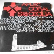 Discos de vinilo: APLEC CORAL SANTA CECILIA, EP, AMOR QUE TENS MA VIDA + 3, AÑO 1966. Lote 139995554
