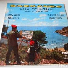 Discos de vinilo: COBLA MARAVELLA - SARDANAS -, EP, MARIA DOLORS + 3, AÑO 1967. Lote 139997186
