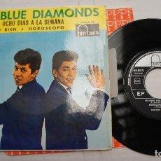 Discos de vinilo: LOS BLUE DIAMONDS - SIBONEY + 3 - DOS CANCIONES THE BEATLES - EP 1965. Lote 139997886