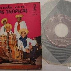 Discos de vinilo: BAILANDO CON CARDENAS TROPICAL - GUAJIRO + 3 - EP SPAIN 195? VINILO NUEVO. Lote 140003254