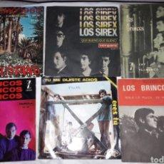 Discos de vinilo: LOTE.SINGLES.VINILO. LOS SIREX.LOS MUSTANG.BRINCOS.BRAVOS.. Lote 140009652