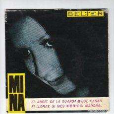 Discos de vinilo: MINA: ITALIA- CANCION-BELTER 1965- MUY BUEN ESTADO!! MUSICA ITALIANA. Lote 140014626