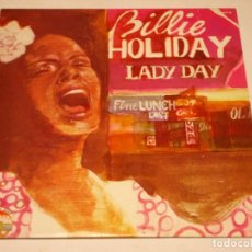 Discos de vinilo: BILLIE HOLIDAY ( THE GOLDEN YEARS OF ''LADY DAY'' ) ITALY-1984 LP33 GIANTS OF JAZZ. Lote 140016826