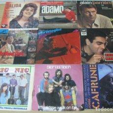 Discos de vinilo: LOTE DE 9 DISCOS SINGLES,DIFERENTES CANTANTES. Lote 140023342
